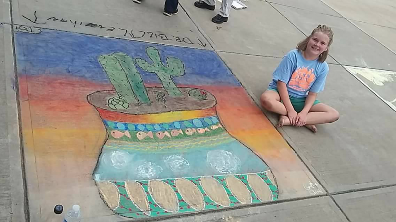 Our annual Street Painting Festival supporting the arts...