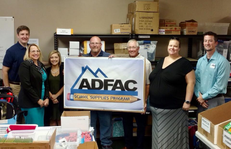 ADFAC Backpacks provide school supplies to less fortunate children in our area
